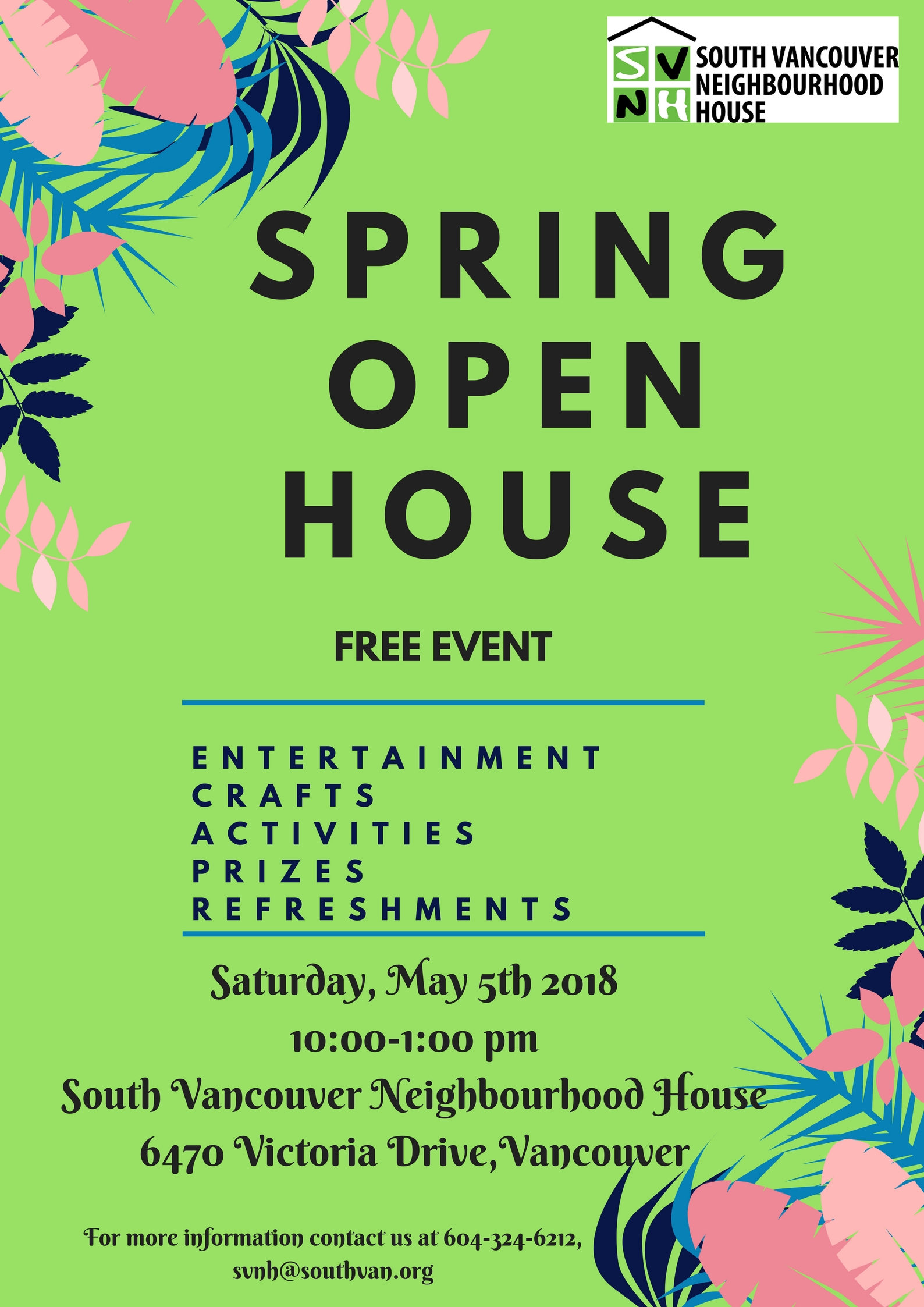 south vancouver neighbourhood house spring open house